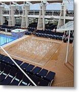 Caribbean Cruise - On Board Ship - 12129 Metal Print