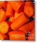 Carrots Ready To Cook Metal Print
