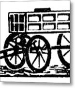 Cart, 19th Century Metal Print