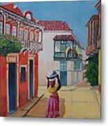 Cartagena Seller Metal Print