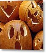Carved Pumpkins Metal Print
