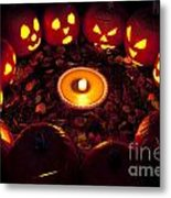 Pumpkin Seance With Pumpkin Pie Metal Print