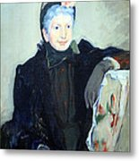 Cassatt's Portrait Of An Elderly Lady Metal Print