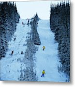 Cat Skiing At Fortress Mountain Metal Print