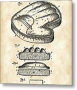 Catcher's Glove Patent 1891 - Vintage Metal Print