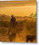 Cattle Drive 7 Metal Print