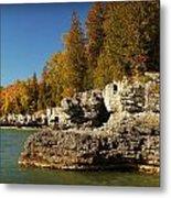 Cave Point County Park Door County Wisconsin Metal Print