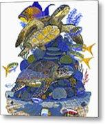 Cayman Turtles Metal Print