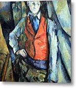 Cezanne's Boy In Red Waistcoat Metal Print