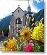 Chamonix Church Metal Print