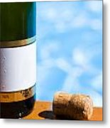 Champagne Bottle And Cork Metal Print