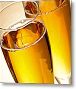 Champagne In Glasses Metal Print