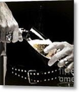 Champagne Toast Metal Print