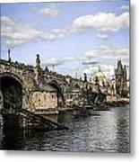 Charles Bridge Prague Metal Print
