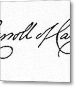 Charles Carroll (1737-1832) Metal Print by Granger