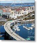 Charleston Waterfront And Marina South Carolina Metal Print