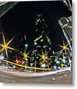 Charlotte Nc Usa - Nightlife Around Charlotte Metal Print