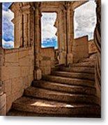 Chateau De Blois Staircase / Loire Valley Metal Print