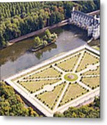 Chateau De Chenonceau And Its Gardens Metal Print