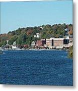Chelsea Harbor In Fall Metal Print