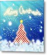 Chess Style Christmas Tree Metal Print
