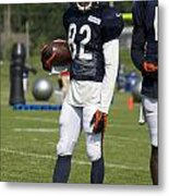 Chicago Bears Wr Chris Williams Training Camp 2014 01b Bw Metal Print