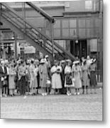 Chicago Commuters, 1940 Metal Print