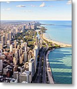 Chicago Lakefront Skyline Metal Print
