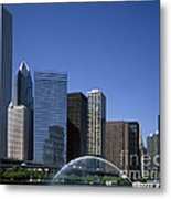 Chicago Skyline Metal Print by Rafael Macia