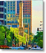 Chicago Water Tower Beacon Metal Print