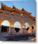 Chinese Archways On Liberty Square In Taipei Taiwan Metal Print