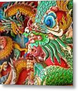 Chinese Temple Detail Metal Print