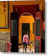 Chinese Temple In Ho Chi Minh Vietnam Metal Print