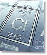 Chlorine Chemical Element Metal Print