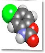 Chlorzoxazone Muscle Relaxant Drug Metal Print