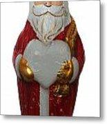 Chocolate Santa Claus Metal Print