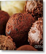 Chocolate Truffles Metal Print