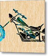 Chopper Art Metal Print
