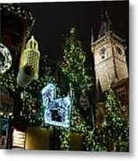 Christmas In Prague Metal Print
