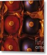 Christmas Ornaments In Box Metal Print