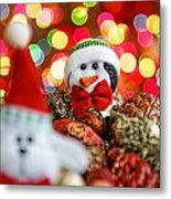 Christmas Penguin Metal Print