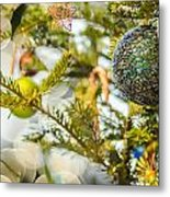 Christmas Tree Ornaments And Decorations Metal Print