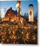 Christmas Village Decorations Metal Print