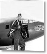 Chuck Yeager And Bell X-1 Metal Print