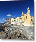 church in Camogli Metal Print