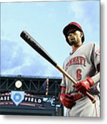 Cincinnati Reds V Arizona Diamondbacks 1 Metal Print