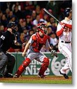Cincinnati Reds V Boston Red Sox 1 Metal Print
