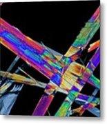 Ciprofloxacin Antibiotic Drug Crystals Metal Print