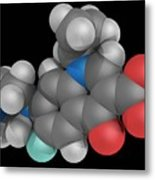 Ciprofloxacin Drug Molecule Metal Print
