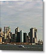 City At The Waterfront, New York City Metal Print